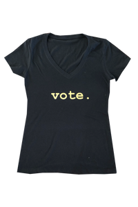 women tees - VOTE.- black