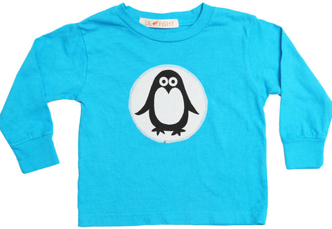 tees - penguin blue