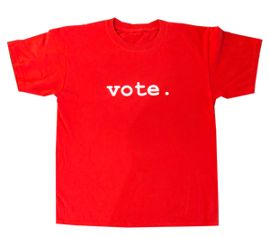 youth tees -ss - VOTE. - red