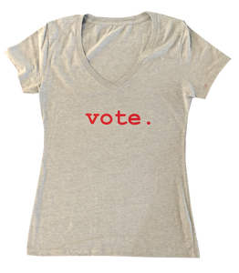women tees - VOTE.- grey