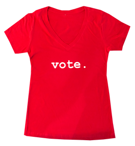 women tees - VOTE.- red