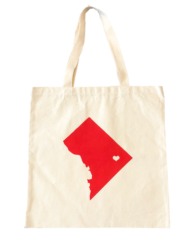tote bags - DC map