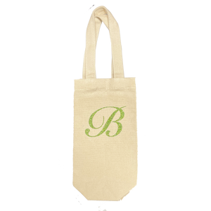 wine tote - custom monogram
