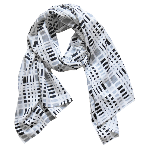 scarfs - long - black & white