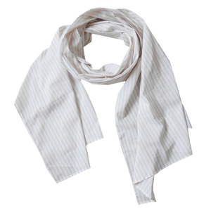 scarfs - long - tan stripes