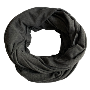 scarfs - infinity - charcoal