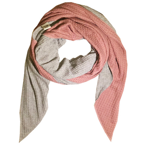 blanket - reversible pink/grey
