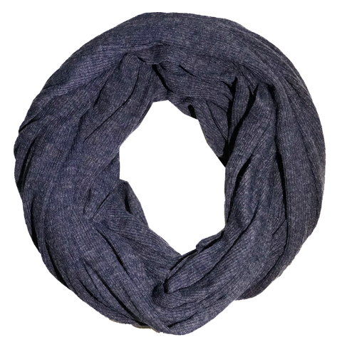scarfs - infinity - navy blue ripped