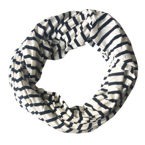 scarfs - infinity - black stripes