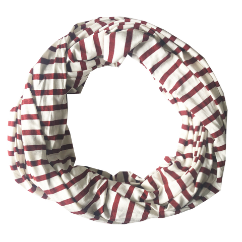 scarfs - infinity - red stripes