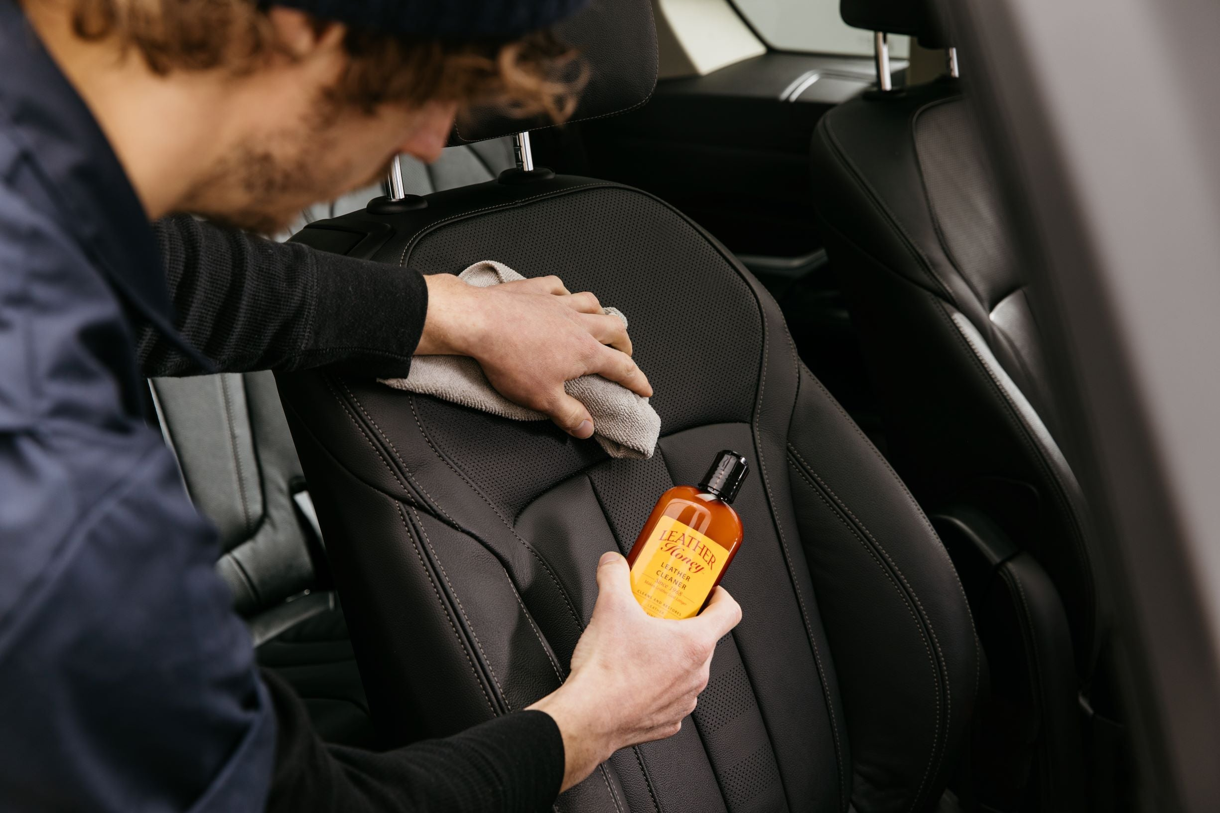 Leather Car Seat Cleaning
