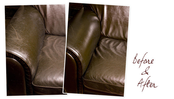 Leather Honey before & after