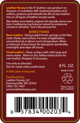 Leather Honey Leather Conditioner - Larger Sizes