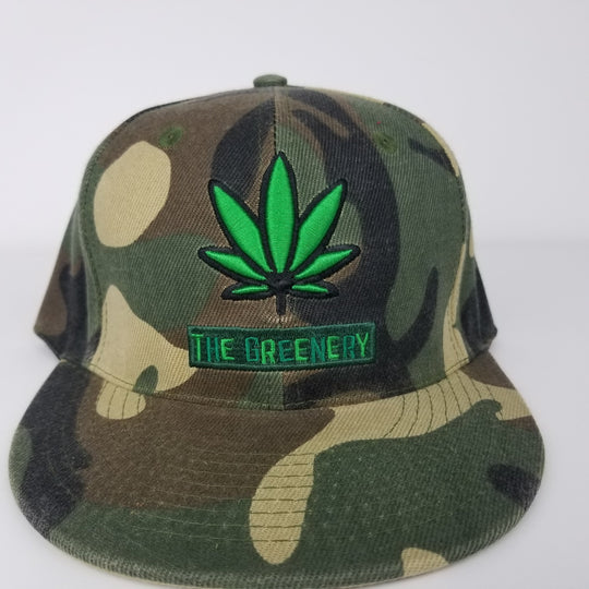 The Greenery Cannabis Snapback Hat - Unisex GreenGiant Vapes - GreenGiant Vapes