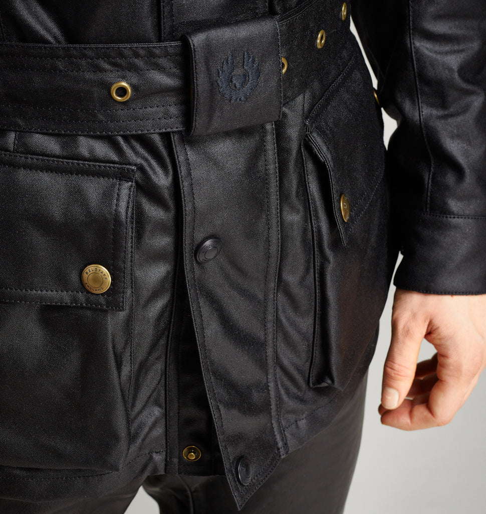 BELSTAFF CLASSIC TOURIST TROPHY - WAXED COTTON JACKET - BLACK