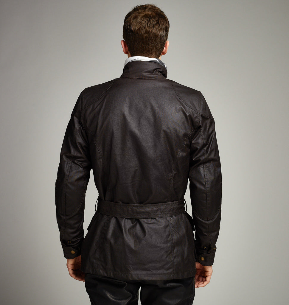 BELSTAFF CLASSIC TOURIST TROPHY - WAXED COTTON JACKET - MAHOGANY