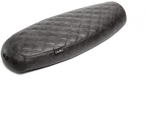 "The ""Essential"" Diamond Stitch Leather Slim Seat - Black"