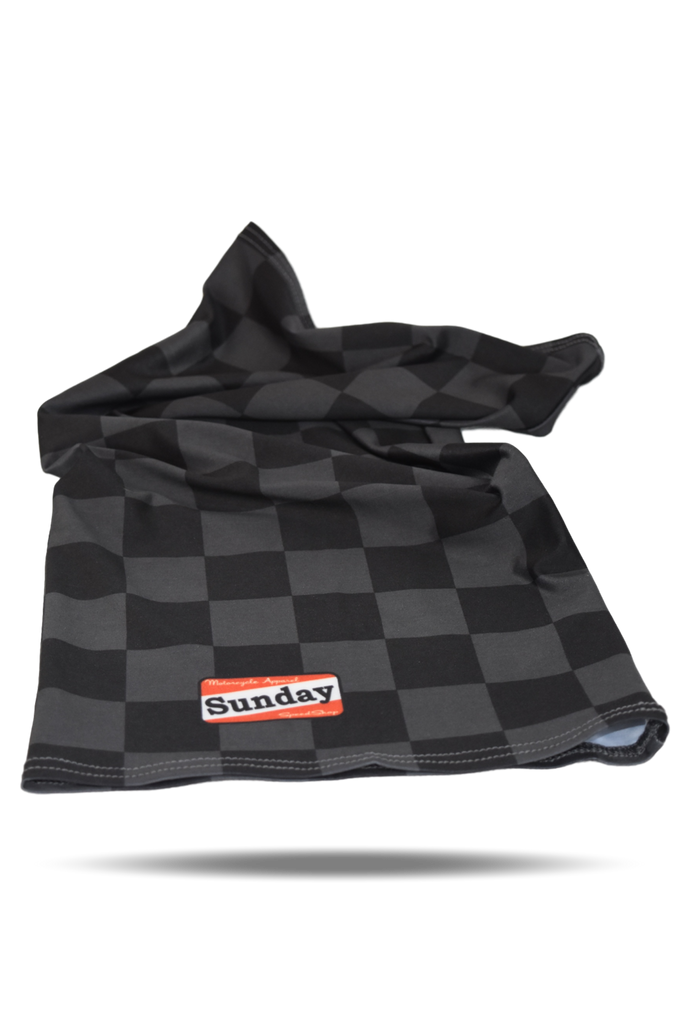 Damier Black Motorcycle Scarf