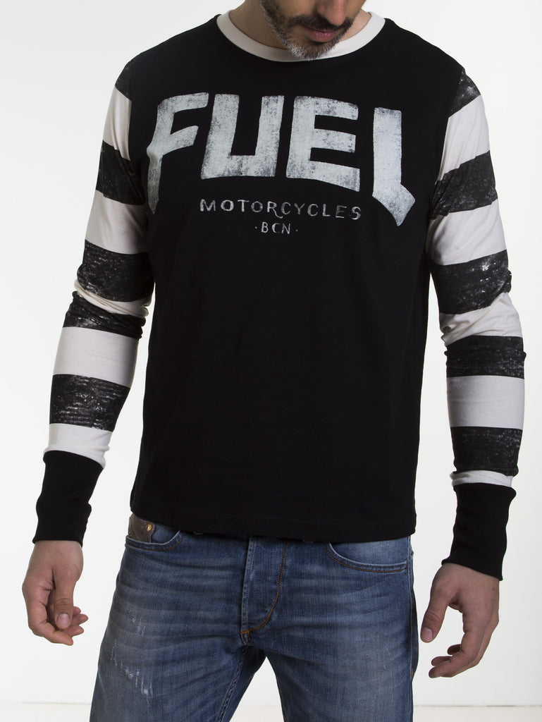 Fuel Motorcycles -STRIPES-Long sleeve T Shirt