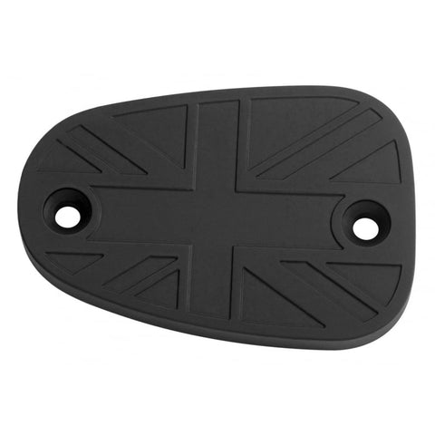 Billet Disc Brake Fluid Reservoir Master Cylinder Cap - Union Jack - Black