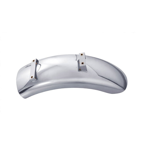 Bobbed Rear Mudguard - Polished Aluminium
