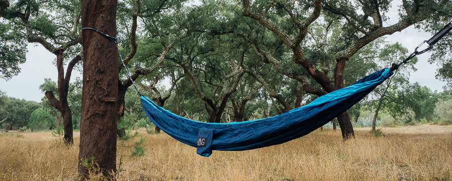Hammock by HÄNG in an olive grove