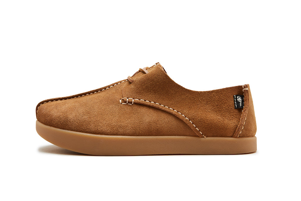 The Heritage collection features Lennon Suede Negative Heel in Tan and Chocolate