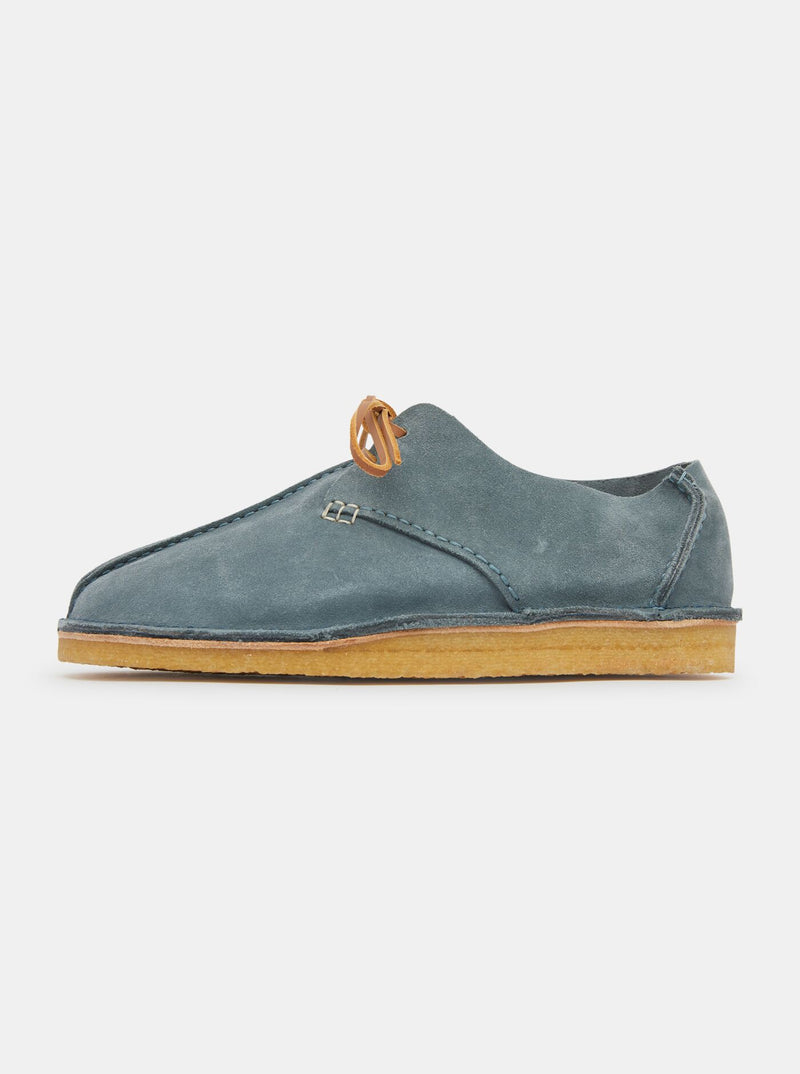 Caden Womens Centre Seam Suede Sky Blue
