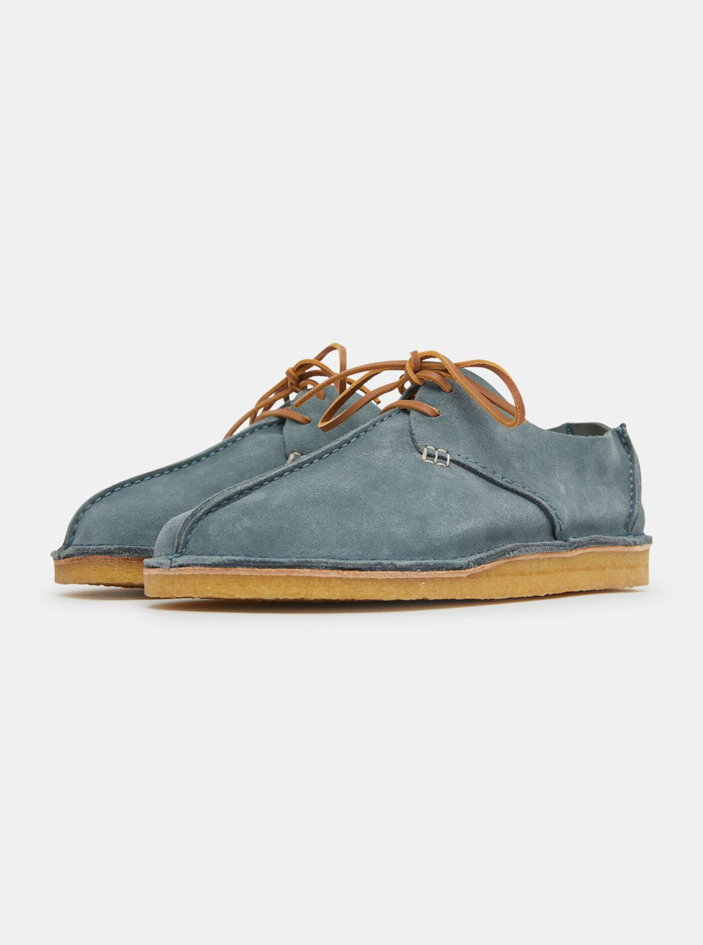 Caden Centre Seam Suede Denim Blue
