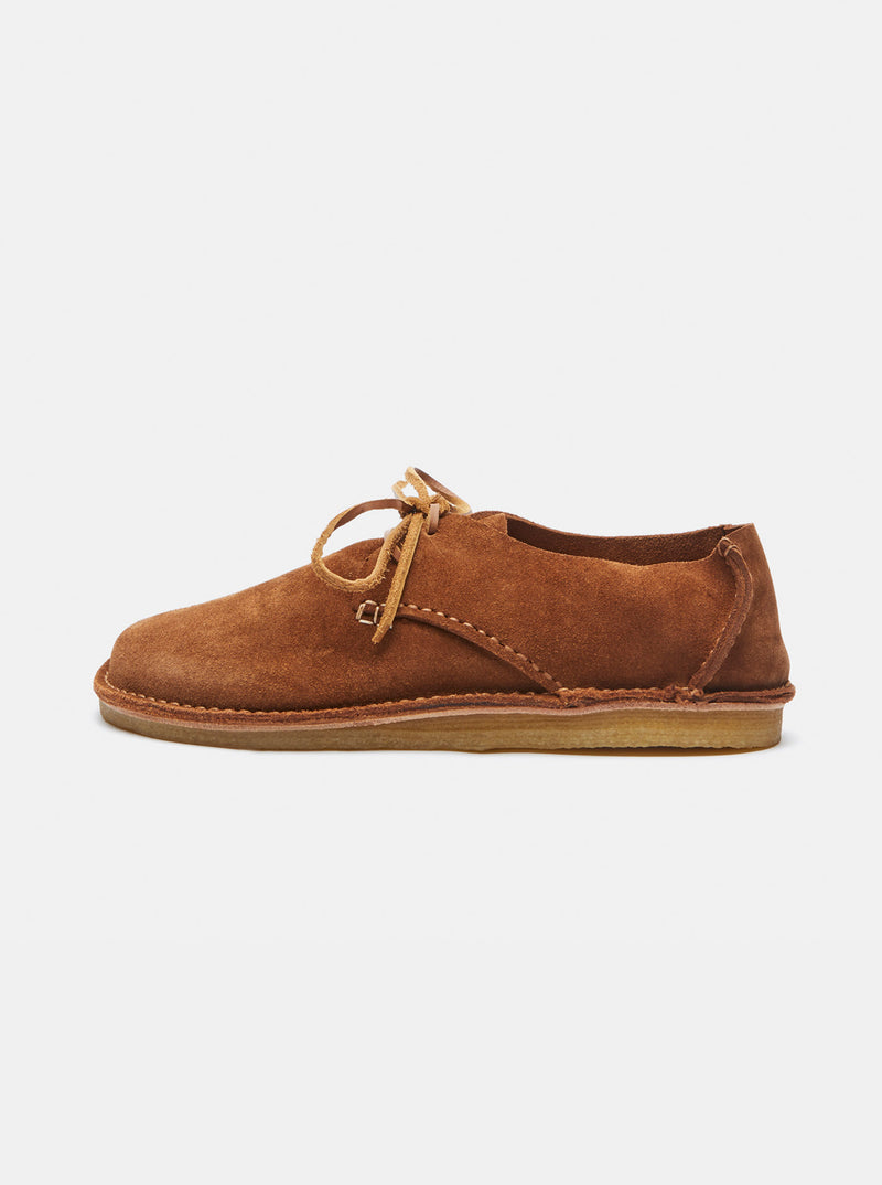 Yogi for Albam Caden Moccasin Suede Lace-up Nude
