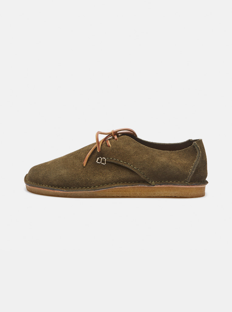 Caden Suede Lace-up Olive