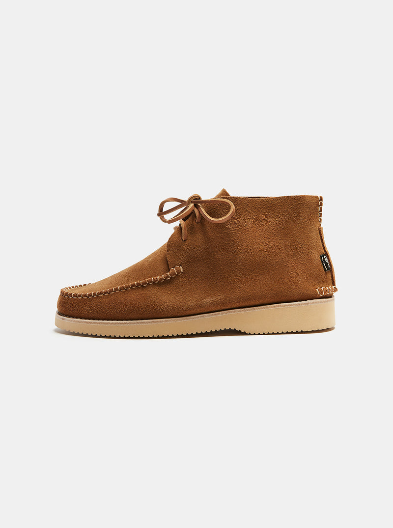 Caden Centre Seam Suede Lace-up Sand