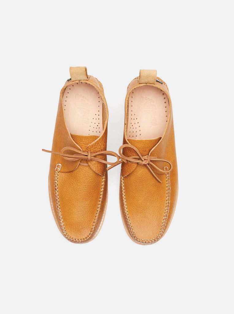 Lawson Textured Leather Moccasin Tan