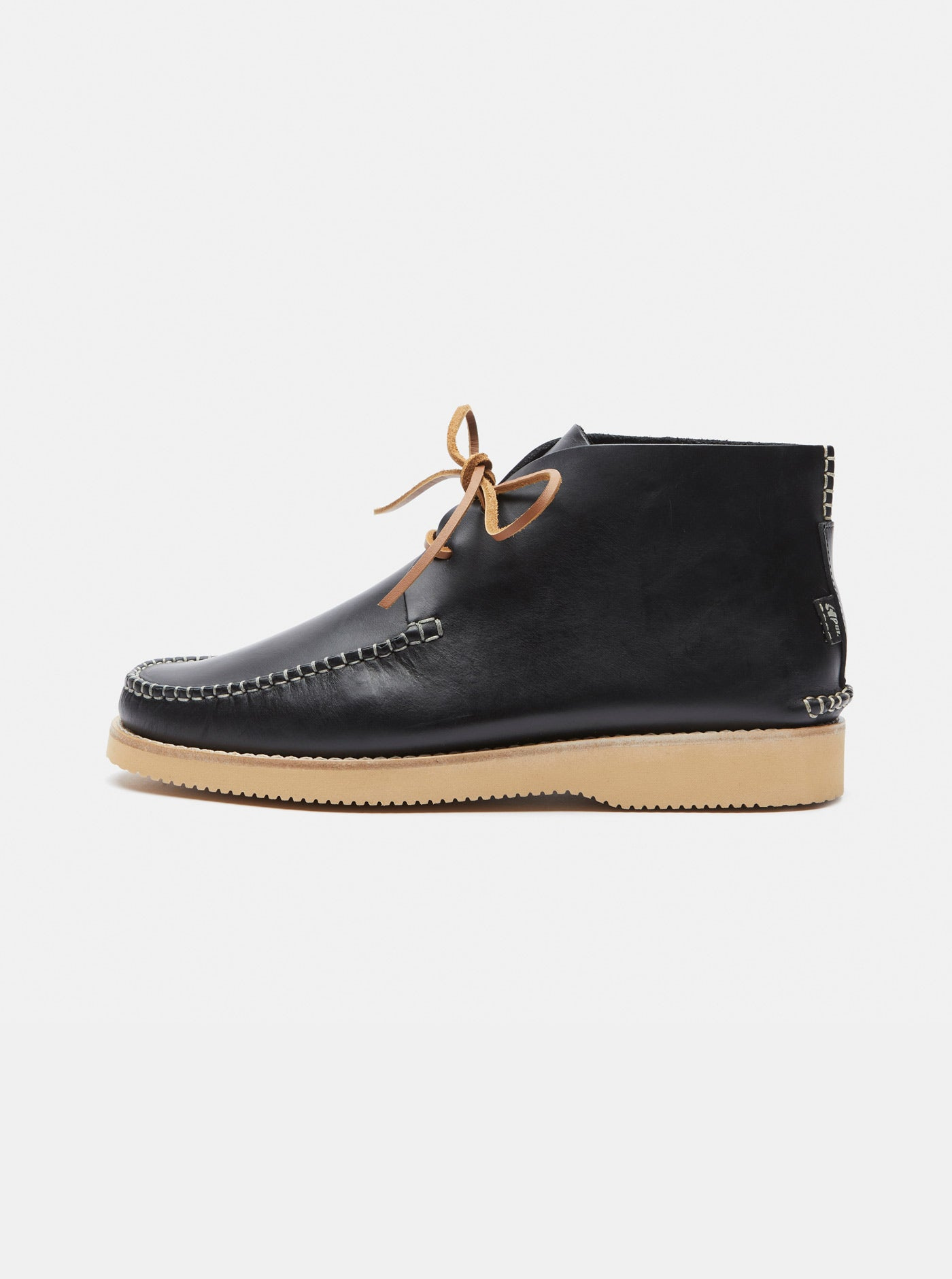 Lucas Leather Moccasin Boot Black