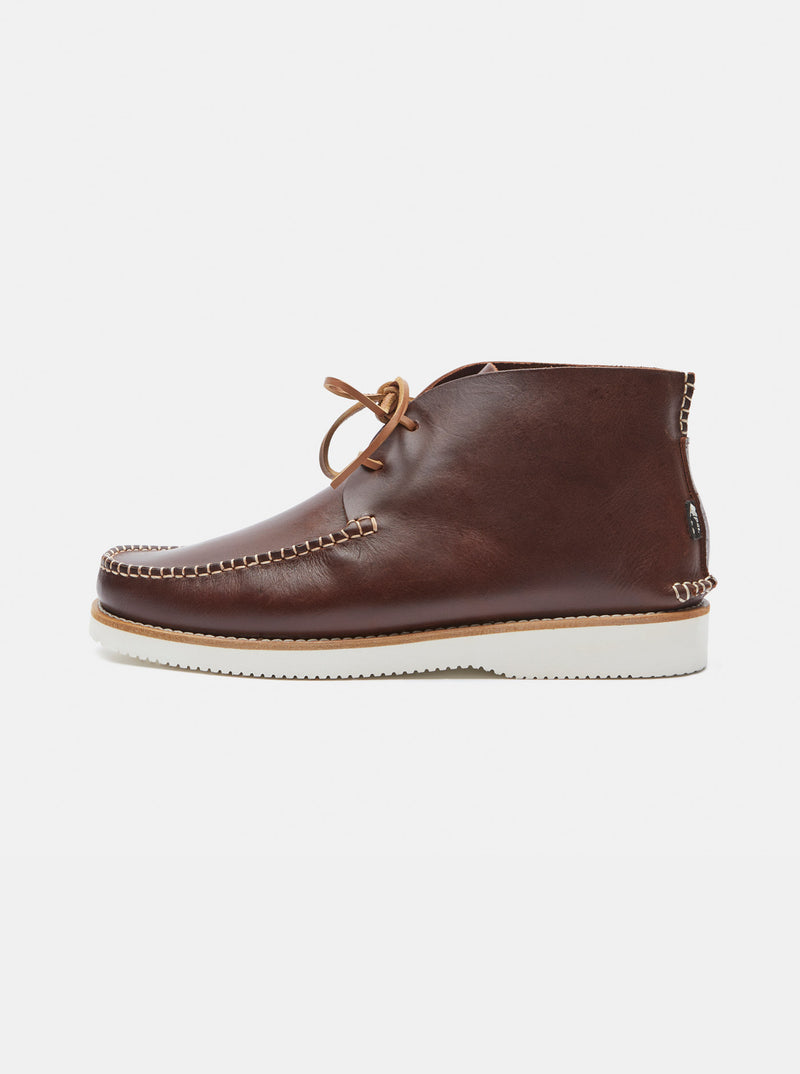 Lucas Leather Moccasin Boot Brown