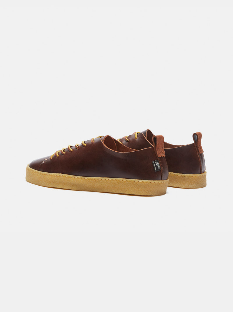 Rufus Crepe Brown Leather