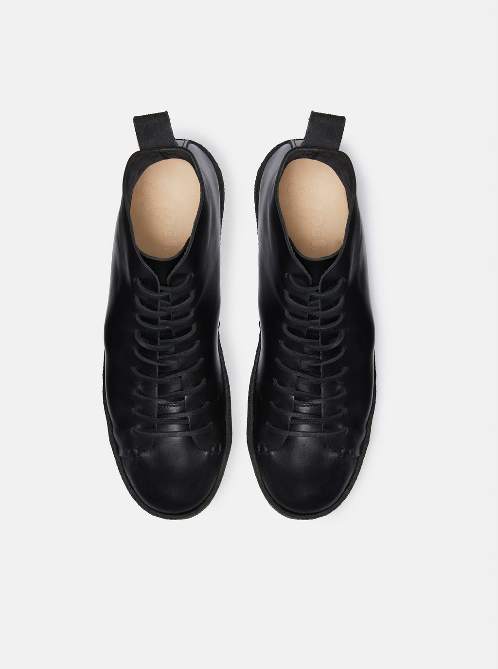 Winstone Crepe Black Leather