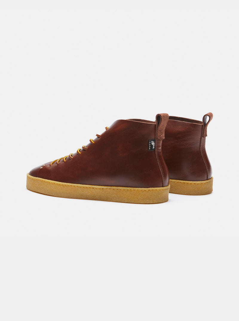 Winstone Crepe Boot Brown Leather
