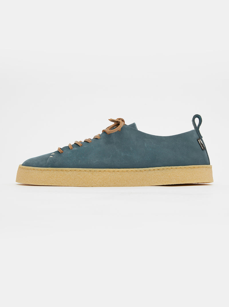 Rufus Crepe Denim Blue Nubuck