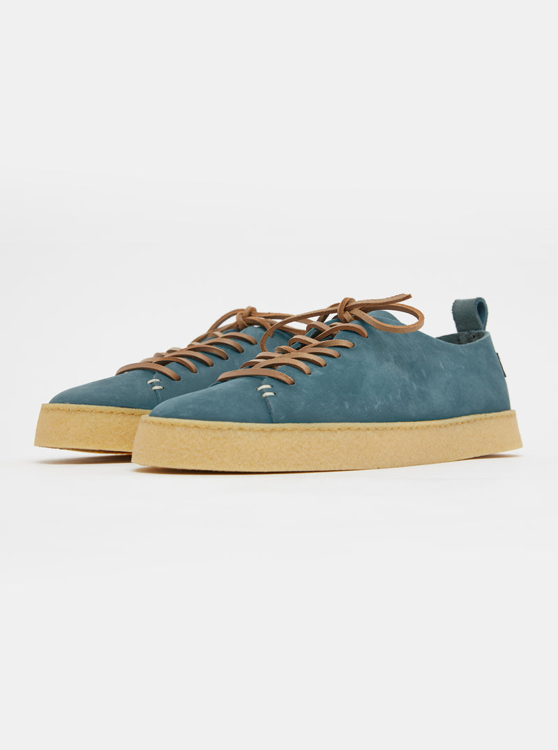 Rufus Womens Crepe Nubuck Denim Blue