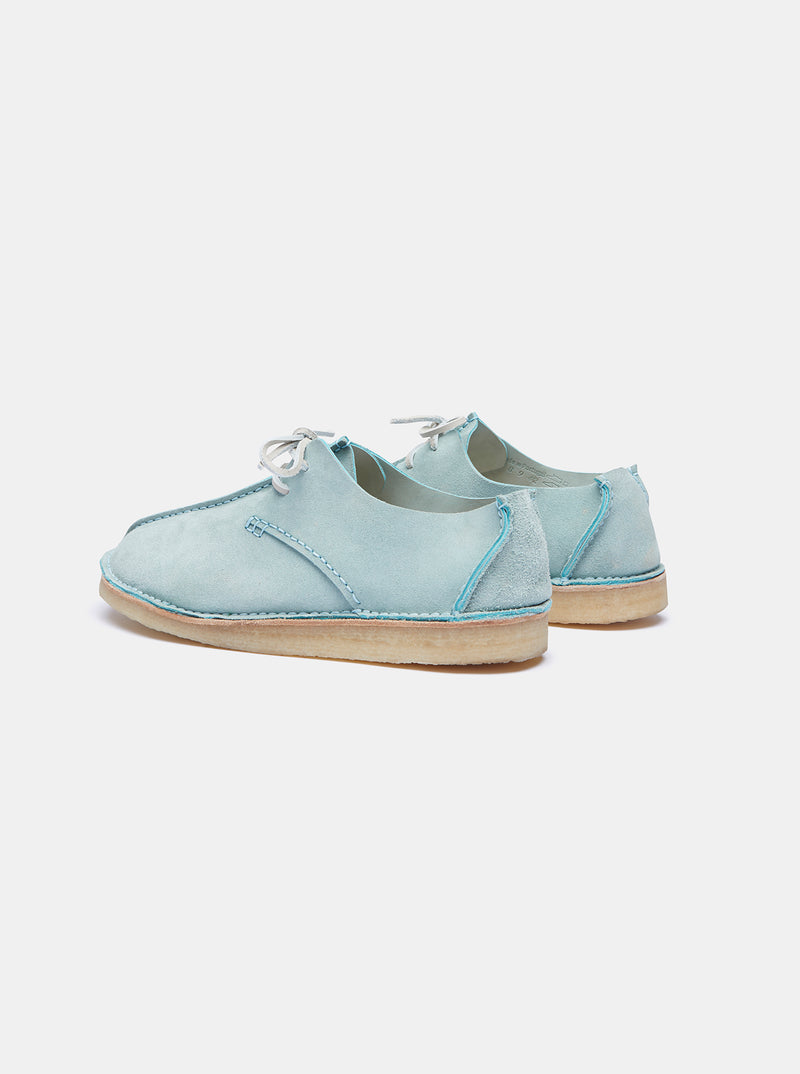 Yogi for Albam Caden Centre Seam Suede Lace-up Light Blue