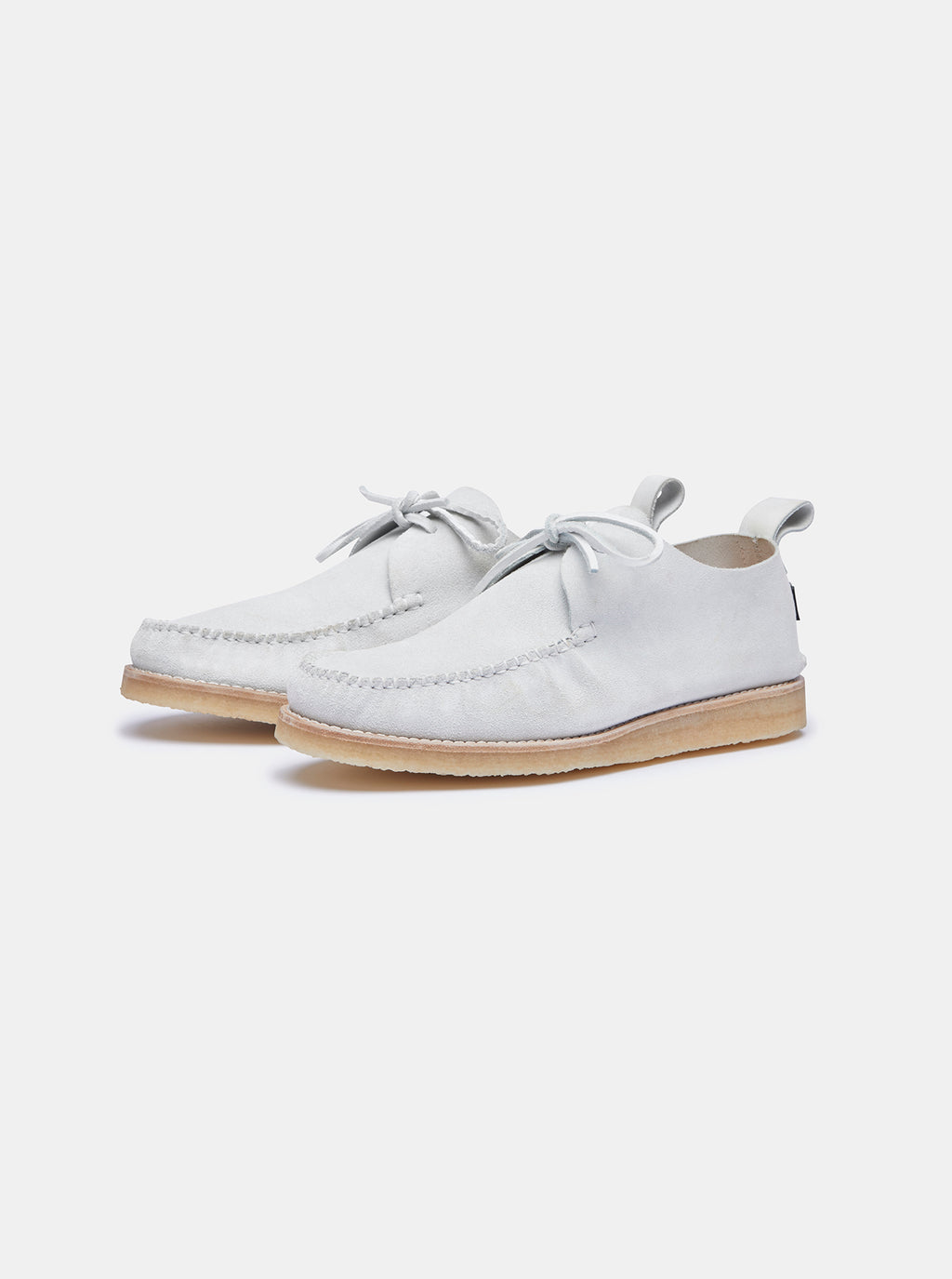Yogi for Albam Lawson Suede Moccasin White