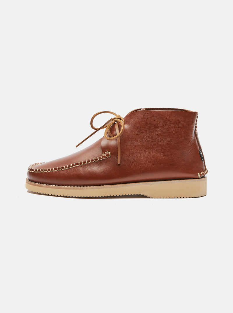 Lucas Leather Moccasin Boot Tan