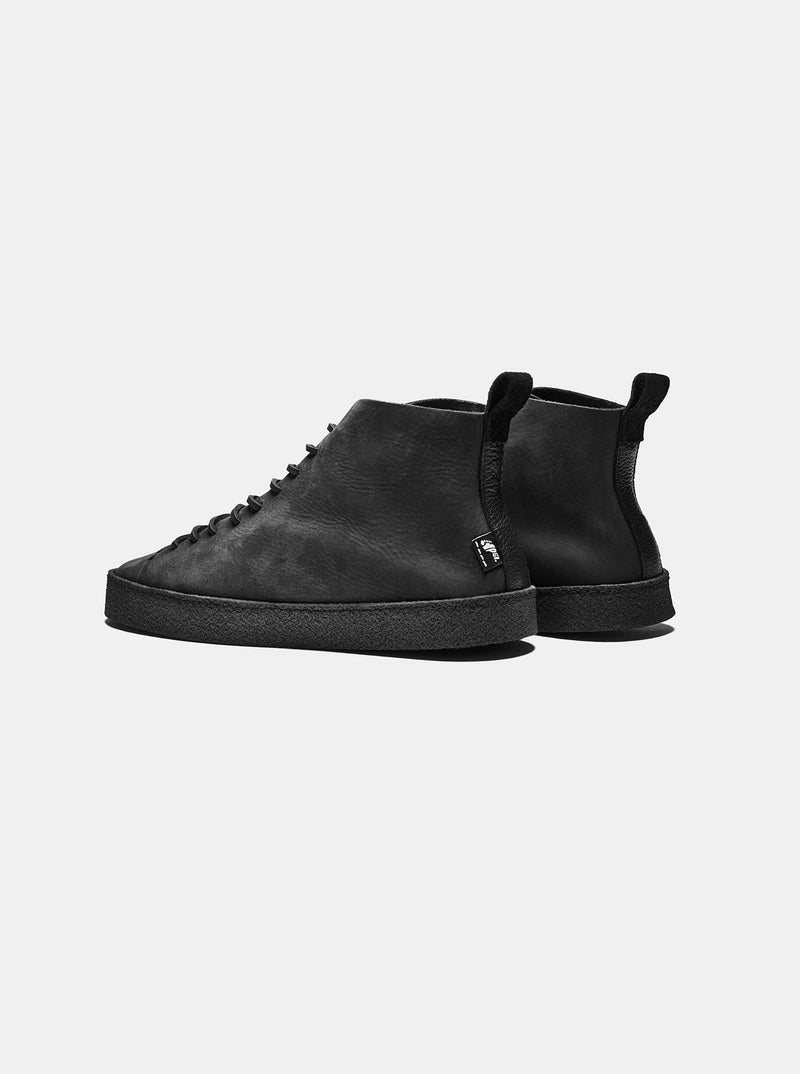 EXCLUSIVE Winstone Crepe Black Waxed Leather