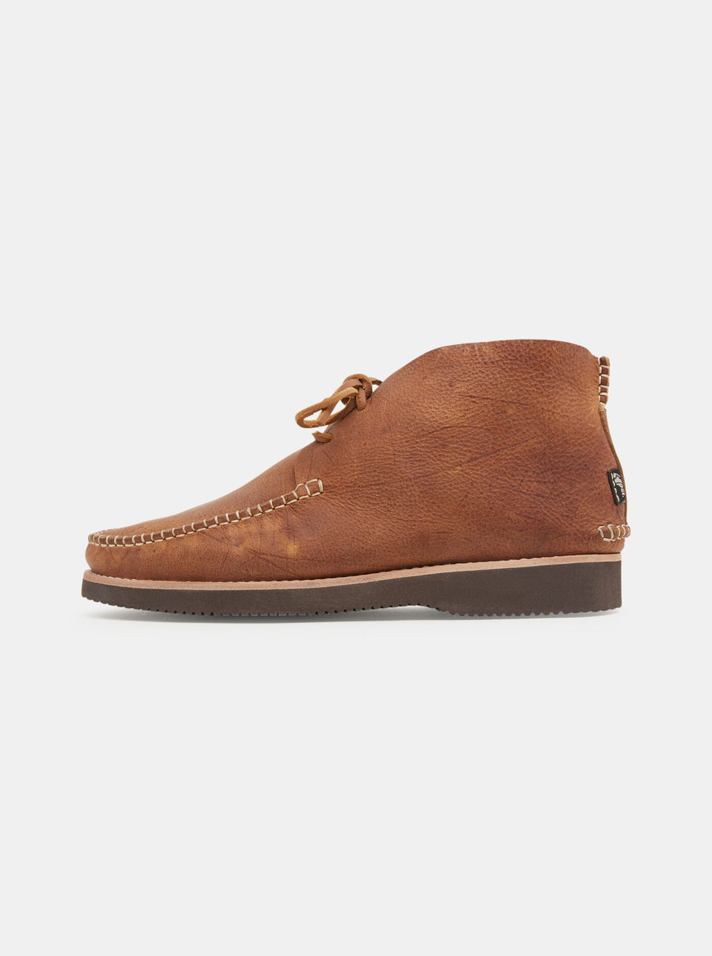 Lucas Tumbled Leather Moccasin Vibram Boot Tan
