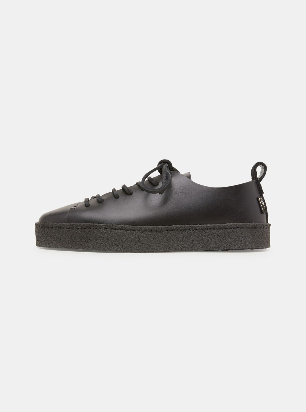 Rufus Womens Crepe Black Leather