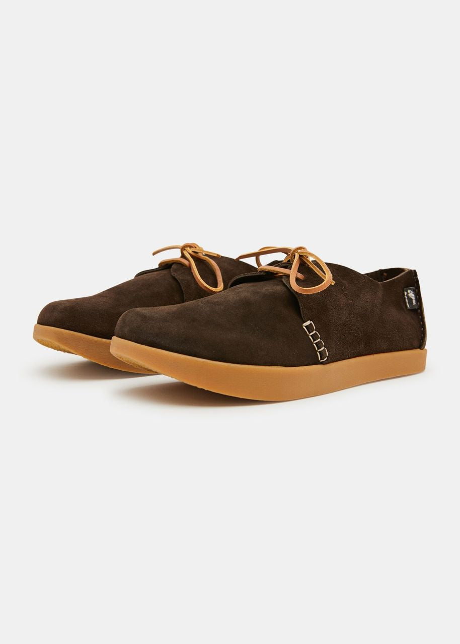 Orson Negative Heel Suede Dark Brown