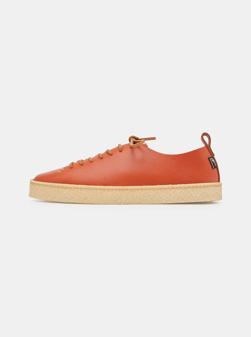 Rufus Womens Crepe Burnt Orange Leather