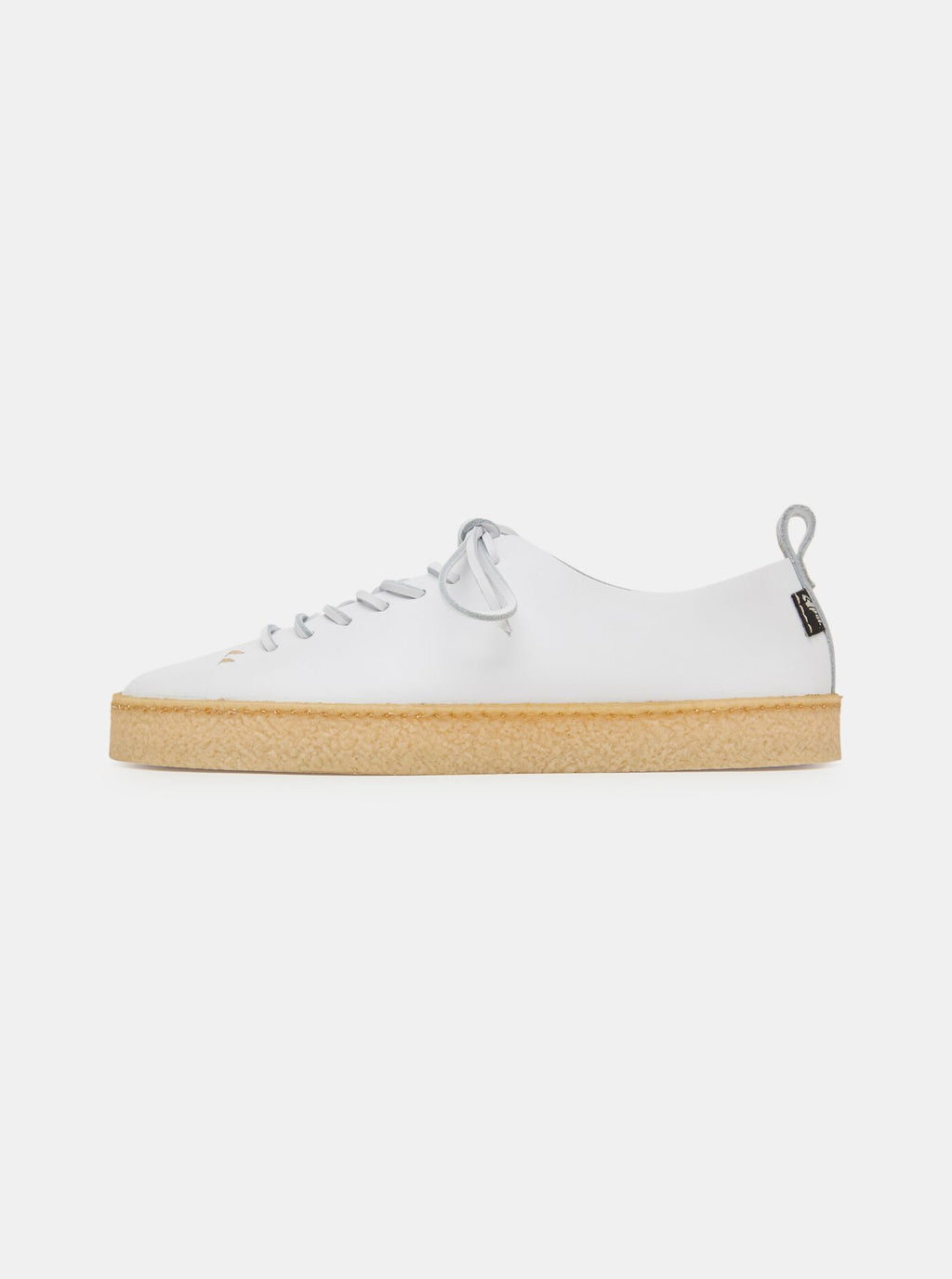 Rufus Womens Crepe White Leather