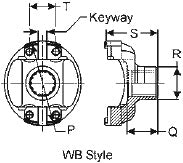 16N-4-4441X Meritor 16N Series End/Pinion Yoke | Round Bearing Diagram
